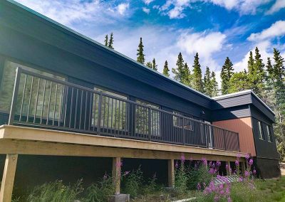 Front View of Yukon Home For Sale Near Carcross and Whitehorse